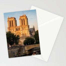 Notre Dame de Paris at Golden Hour - Paris, France Stationery Cards