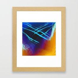 Glitch Land Framed Art Print