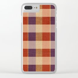Burlap & Home Sweet FarmHouse Clear iPhone Case