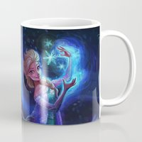 frozen Mugs featuring frozen by KATIE PAYNE