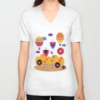 spring V-neck T-shirts featuring Spring by Kakel