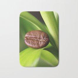Coffee beans on bamboo Bath Mat