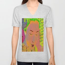 Geisha Pop Art Unisex V-Neck
