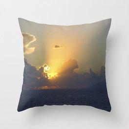 Sunset, Amalphi coast, Italy 2 Throw Pillow