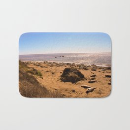 Elephant Seals on the California Coast Bath Mat