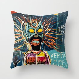 Keeping the mystery alive Throw Pillow