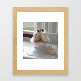 Lets love cake Framed Art Print