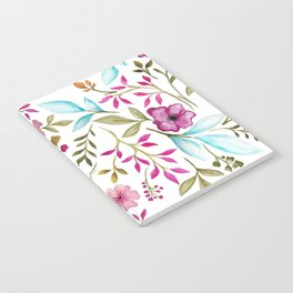 Watercolor Botanical Floral Leaves by Ms. Parasol Notebook
