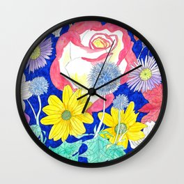 London Flora Wall Clock