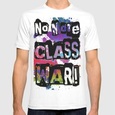 NO MORE CLASS WAR MEDIUM White Mens Fitted Tee