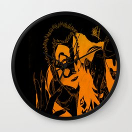 Insane heads Wall Clock
