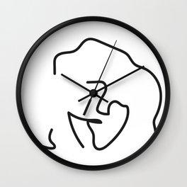 Cleo   Abstract Wall Clock