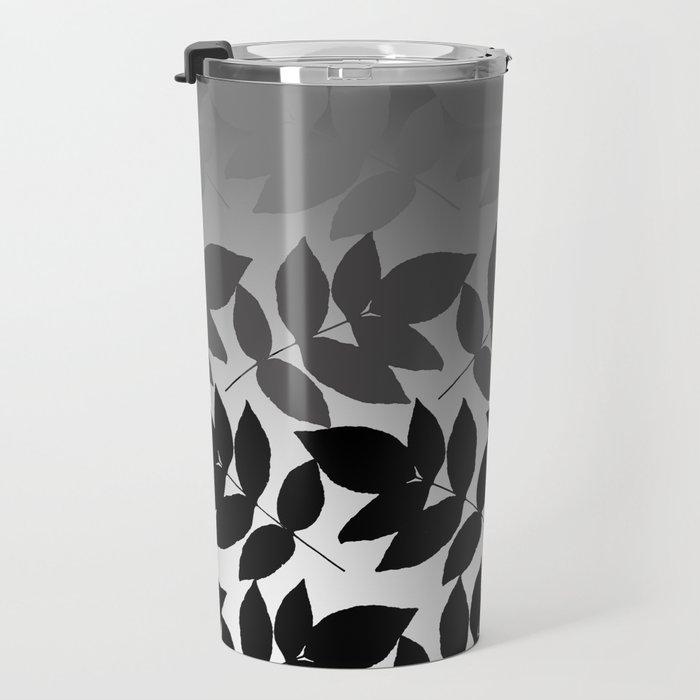 Hombre Leaf Black Gold Travel Mug