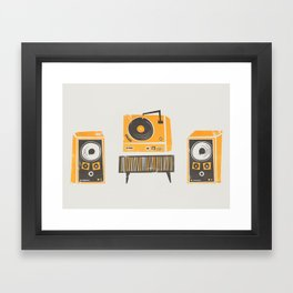 Vinyl Deck And Speakers Framed Art Print