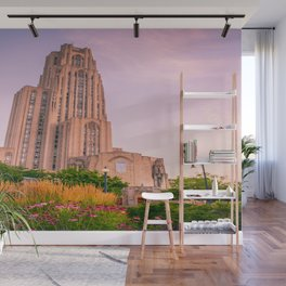 Pittsburgh Cathedral Of Learning Flower Garden Wall Mural