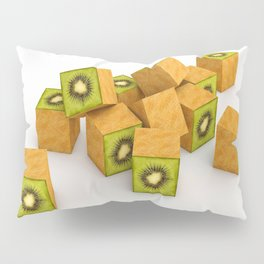 Kiwi Cubes Pillow Sham