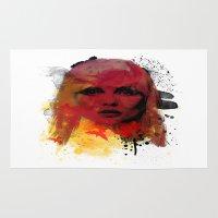 blondie Area & Throw Rugs featuring Debbie Harry - Blondie by 2b2dornot2b