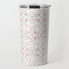 Pink doodle damask Travel Mug