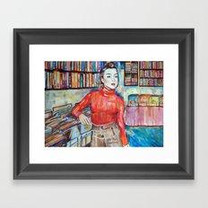 Russian Red, Singer, painting, illustration, art pop Framed Art Print