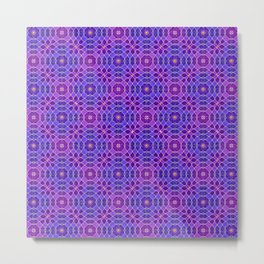 PURPLE PANACHE PATTERN Metal Print
