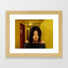 A Girl Framed Art Print
