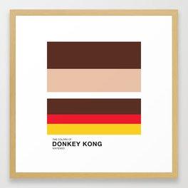 The Colors of Donkey Kong Framed Art Print