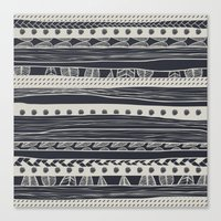 aztec Canvas Prints featuring aztec by spinL