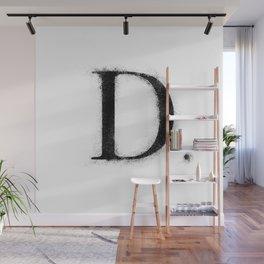 D. - Distressed Initial Wall Mural