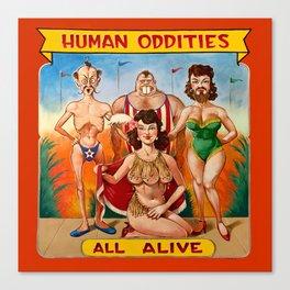 Sideshow Banner, Human Oddities Canvas Print