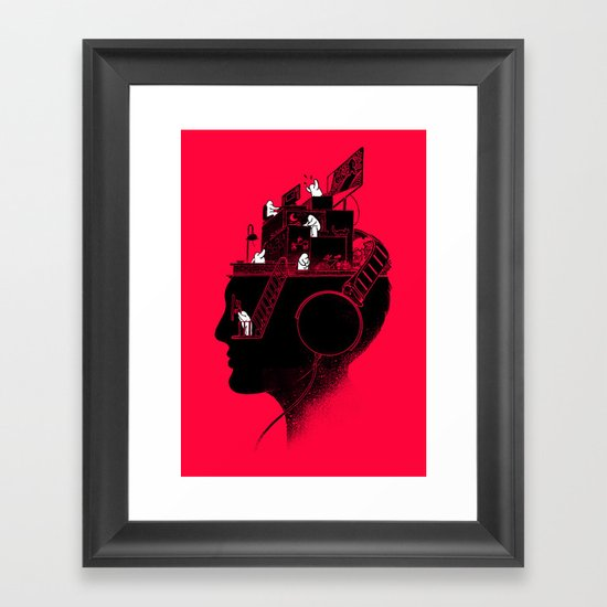 Everyday is a New Soundtrack Framed Art Print