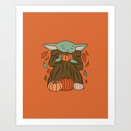 """""""The Child Pumpkin Picking"""" by Doodle by Meg Art Print"""