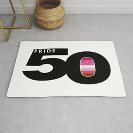 50 Pride Lipstick Lesbian Pride Flag Rug