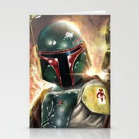 boba Stationery Cards featuring Boba Fett by Mishel Robinadeh