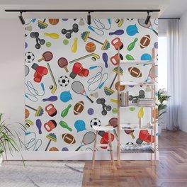 Children's Sport Pattern Wall Mural