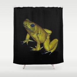 Golden Dart Frog Shower Curtain