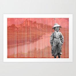 Aspiring Kidwelly Astronaut Art Print