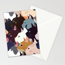 variety of cats Stationery Cards