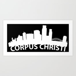 Curved Skyline Of Corpus Christi TX Art Print