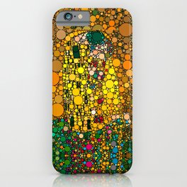 If Klimt The Kiss was painted with bubbles  iPhone Case