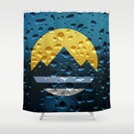 Flag of Reno - Raindrops Shower Curtain