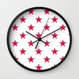 Stars (Crimson/White) Wall Clock