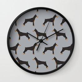 Doberman Pinscher owners gifts home decor art print dog art pet portrait Wall Clock