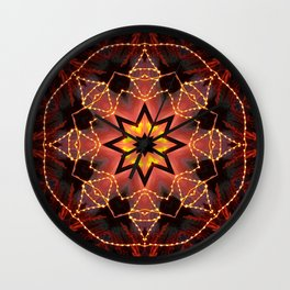 Kaleidoscope fantasy on lights in the shape of a bison! Wall Clock