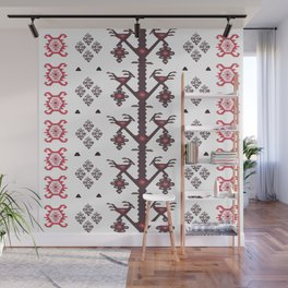 Tribal Ethnic Love Birds Kilim Rug Pattern Wall Mural