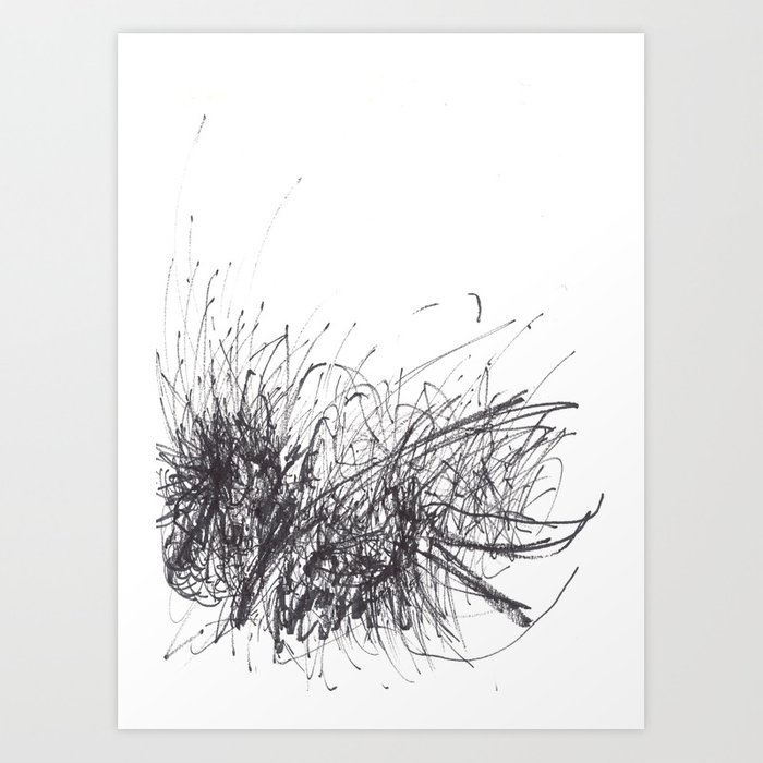 Sound of Longing (Intuitive Sound Scribble #3) Art Print