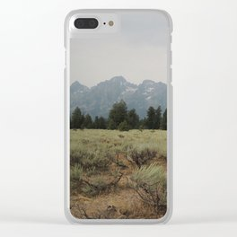 Rocky Mountain Paradise Clear iPhone Case
