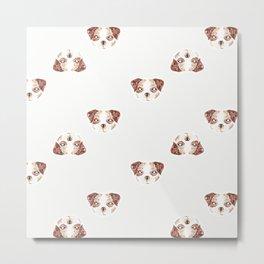 Beagley Pattern Metal Print