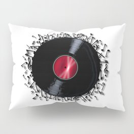 Musical Notes Record Pillow Sham