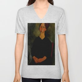 "Amedeo Modigliani ""Little Servant Girl"" Unisex V-Neck"