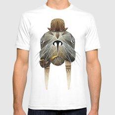 walrus White Mens Fitted Tee MEDIUM